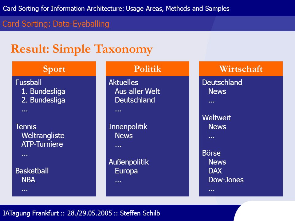 Result: Simple Taxonomy