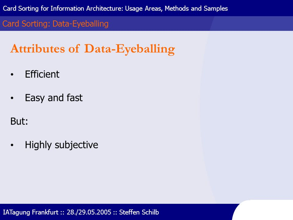 Attributes of Data-Eyeballing