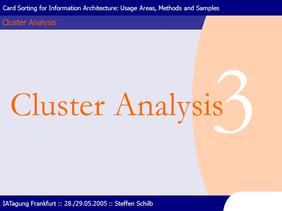 3 Cluster Analysis Cluster Analysis