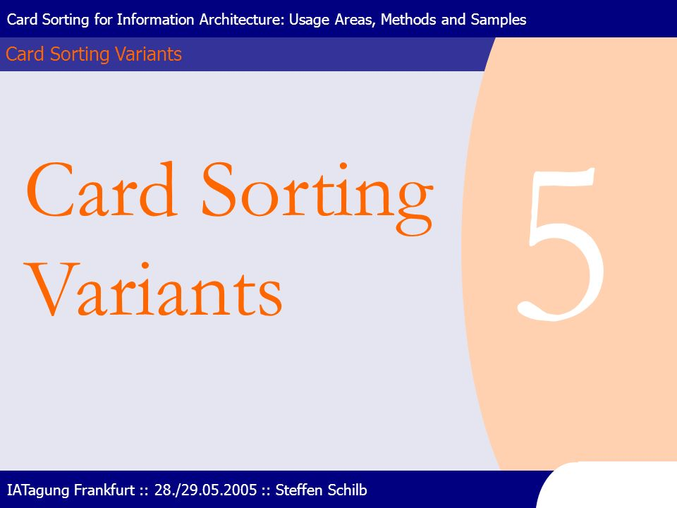 5 Card Sorting Variants Card Sorting Variants