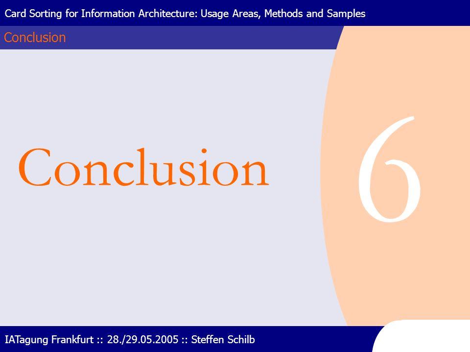 6 Conclusion Conclusion