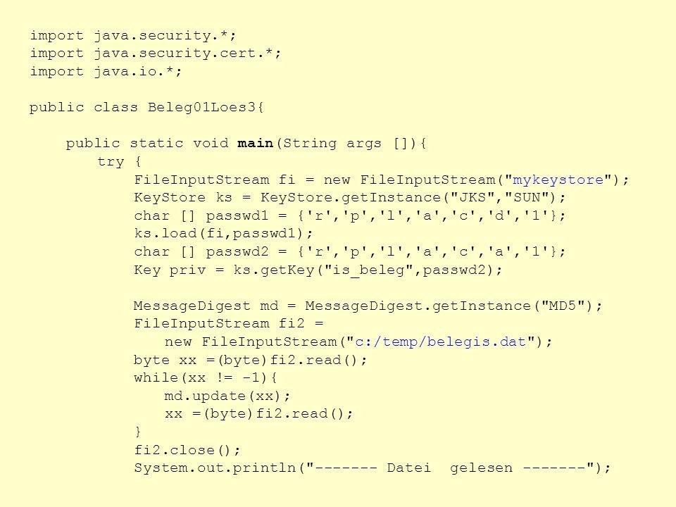 import java.security.*;