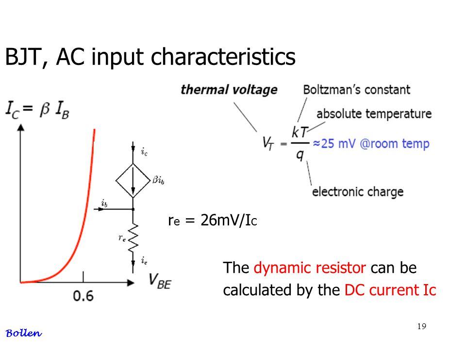 BJT, AC input characteristics