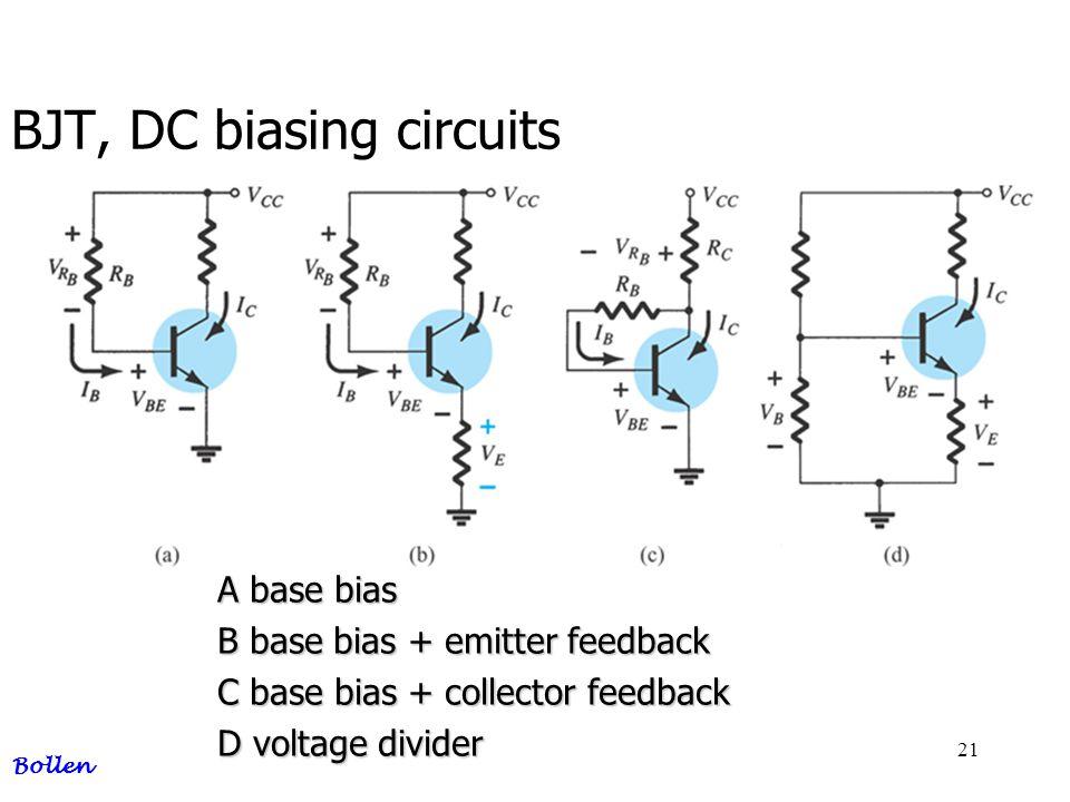 BJT, DC biasing circuits