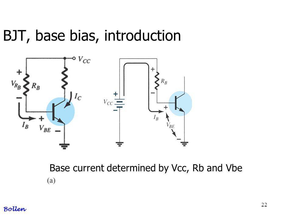 BJT, base bias, introduction