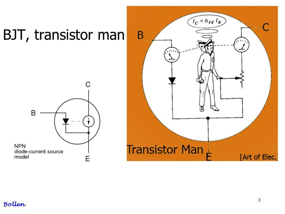 BJT, transistor man Bollen