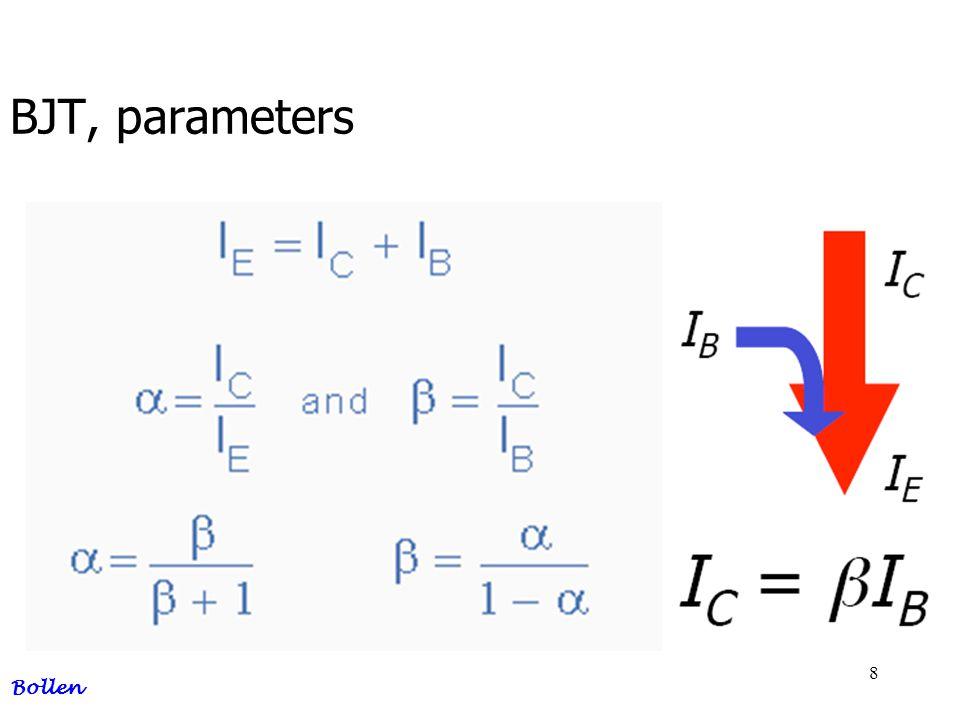 BJT, parameters Bollen