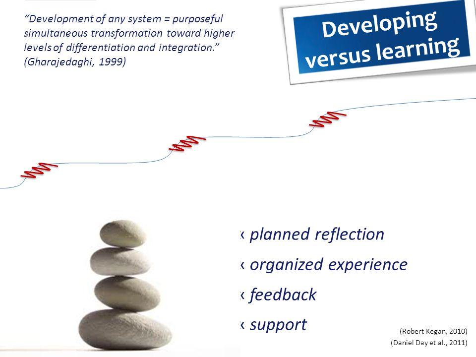 Developing versus learning
