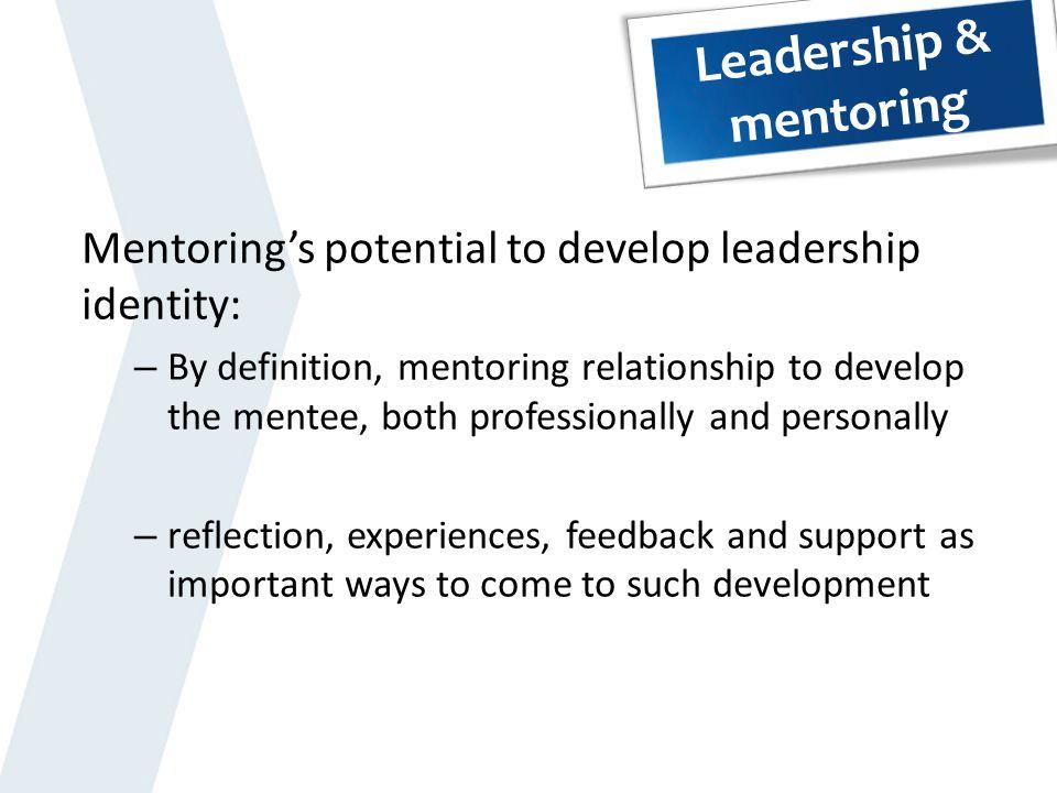 Leadership & mentoring