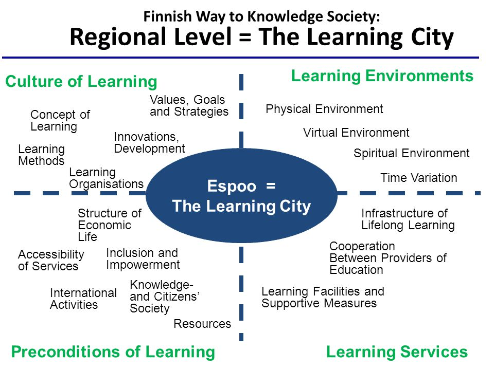 Finnish Way to Knowledge Society: Regional Level = The Learning City