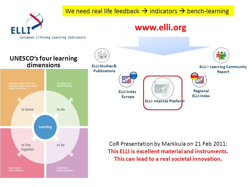 We need real life feedback  indicators  bench-learning
