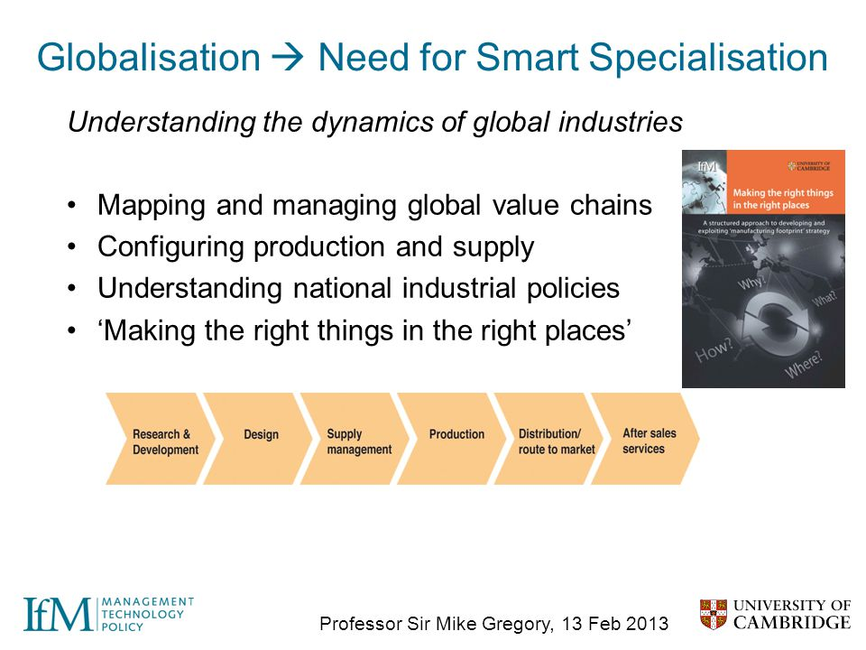 Globalisation  Need for Smart Specialisation