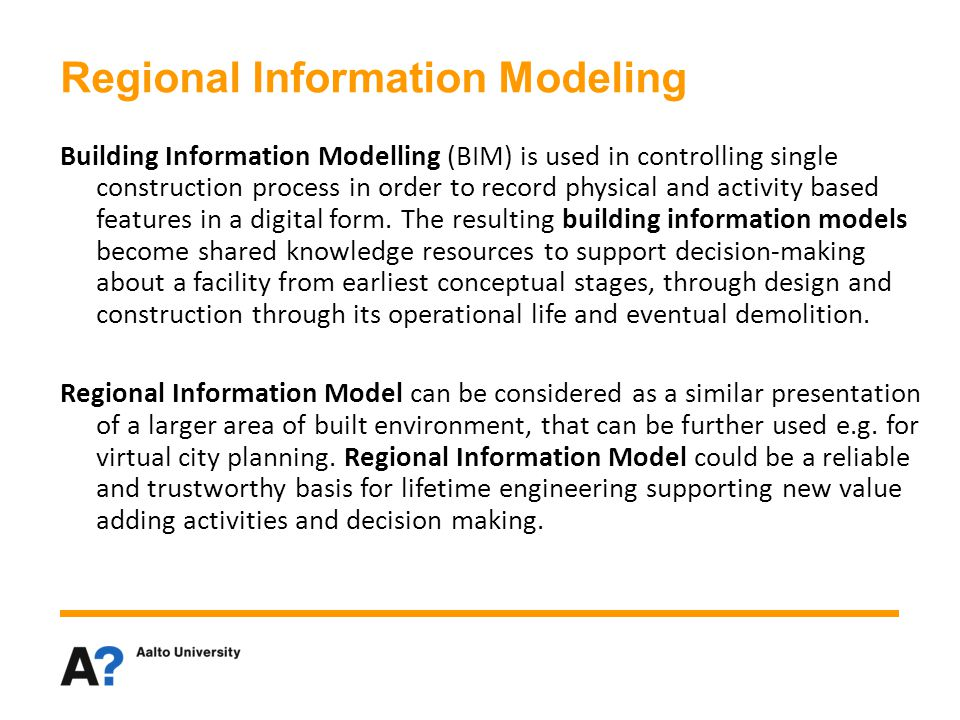 Regional Information Modeling
