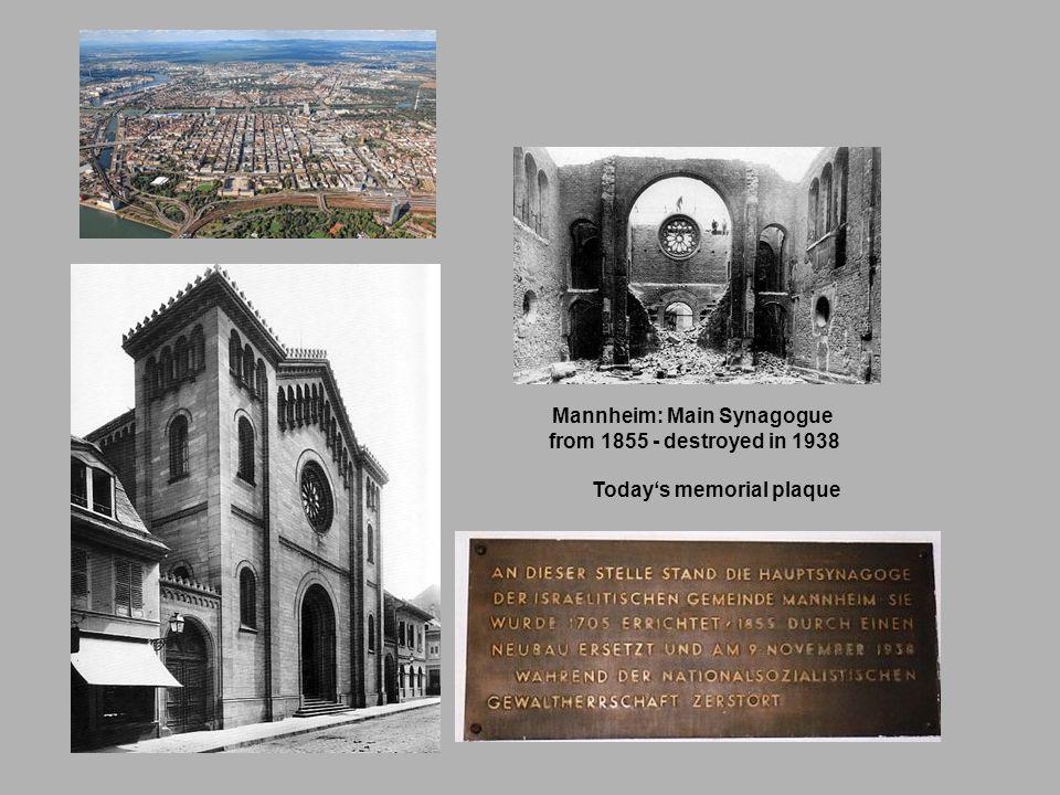 Mannheim: Main Synagogue Today's memorial plaque
