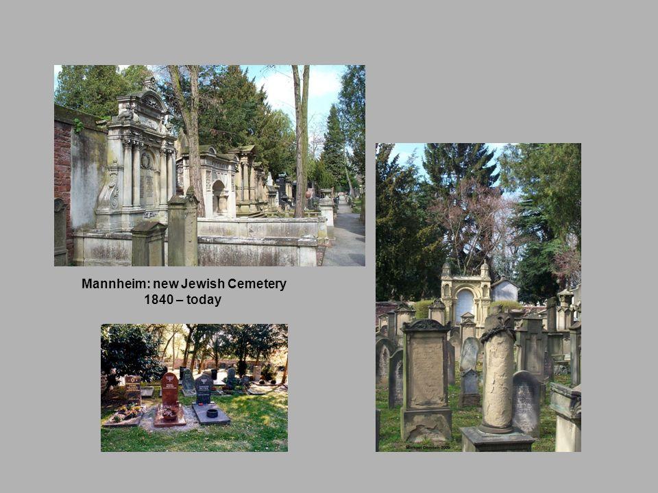 Mannheim: new Jewish Cemetery