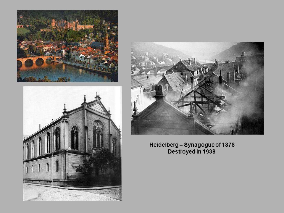Heidelberg – Synagogue of 1878