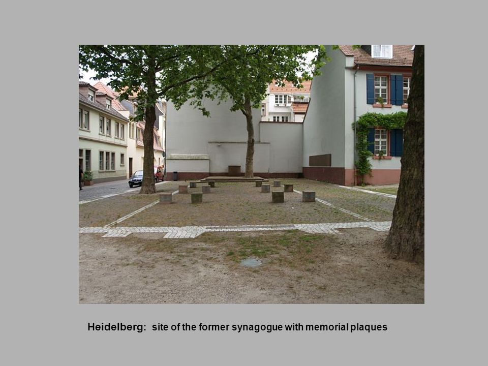 Heidelberg: site of the former synagogue with memorial plaques