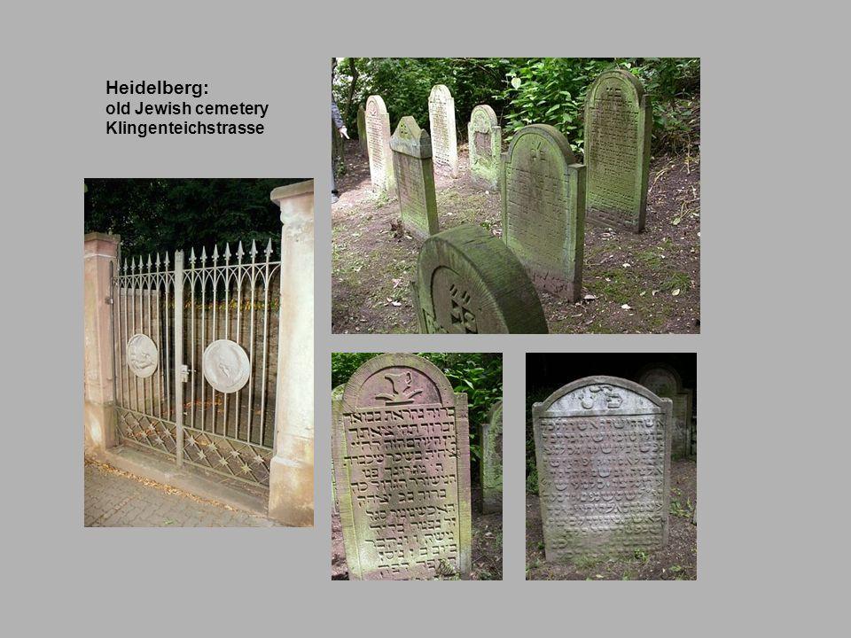 Heidelberg: old Jewish cemetery Klingenteichstrasse