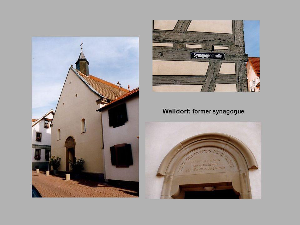 Walldorf: former synagogue