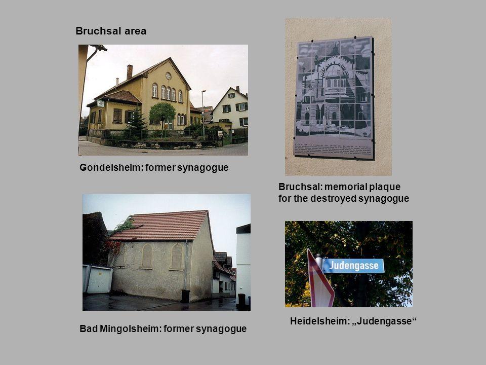 Bruchsal area Gondelsheim: former synagogue