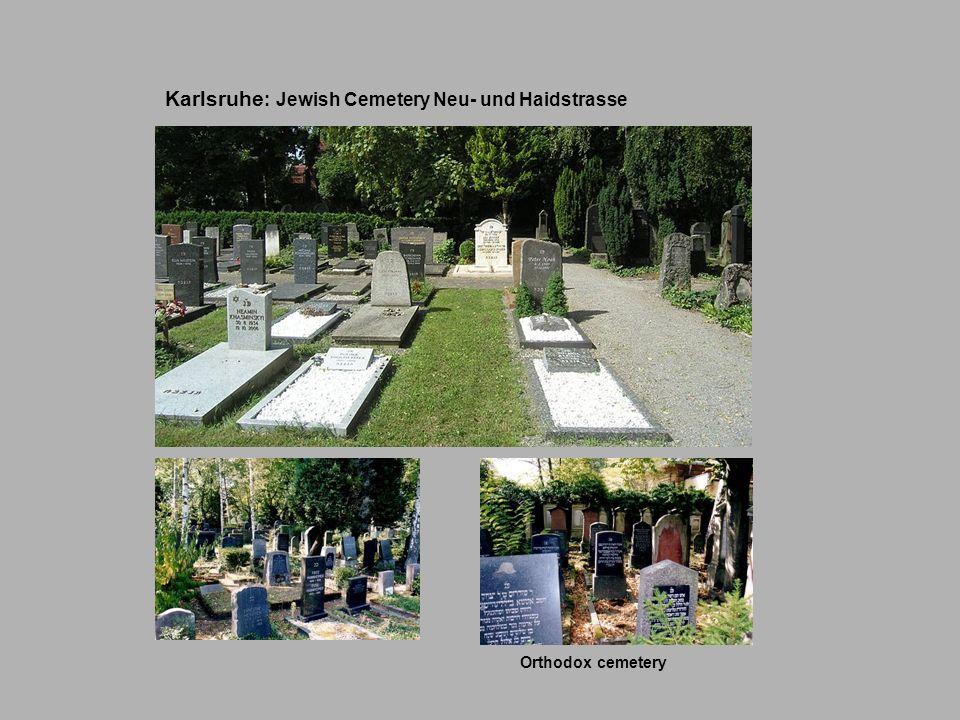 Karlsruhe: Jewish Cemetery Neu- und Haidstrasse