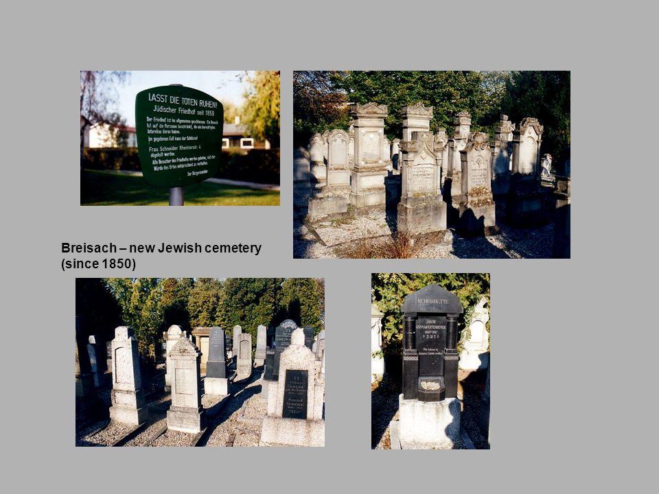Breisach – new Jewish cemetery