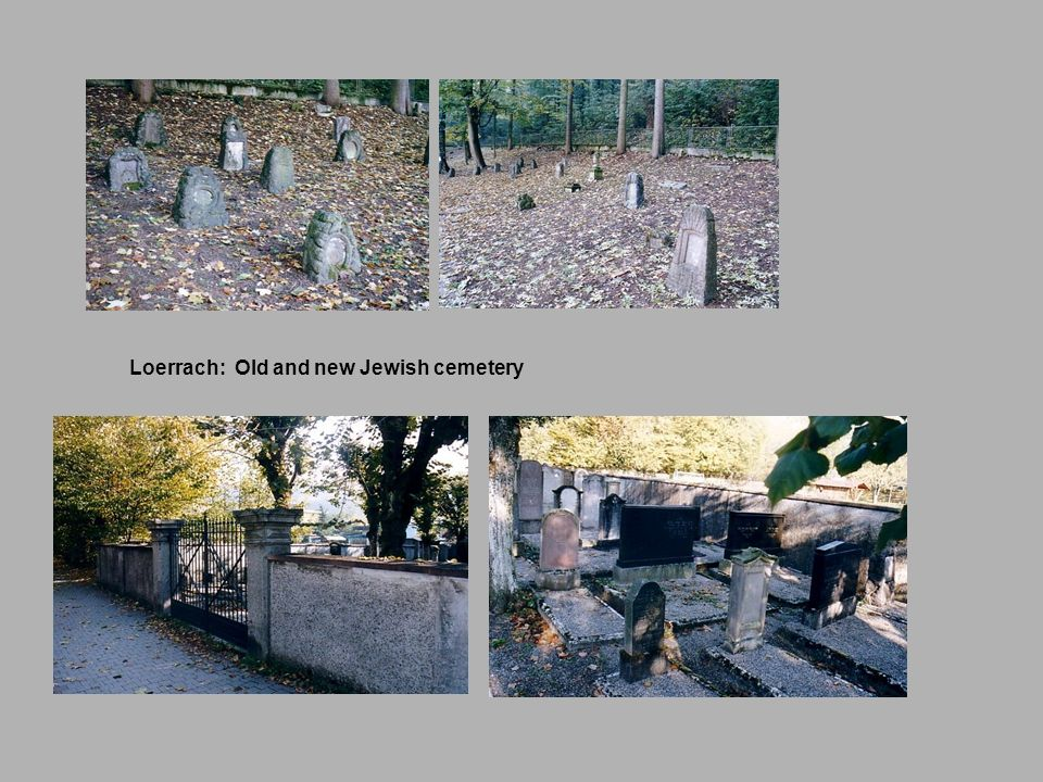 Loerrach: Old and new Jewish cemetery