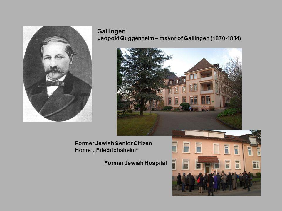 Gailingen Leopold Guggenheim – mayor of Gailingen (1870-1884)