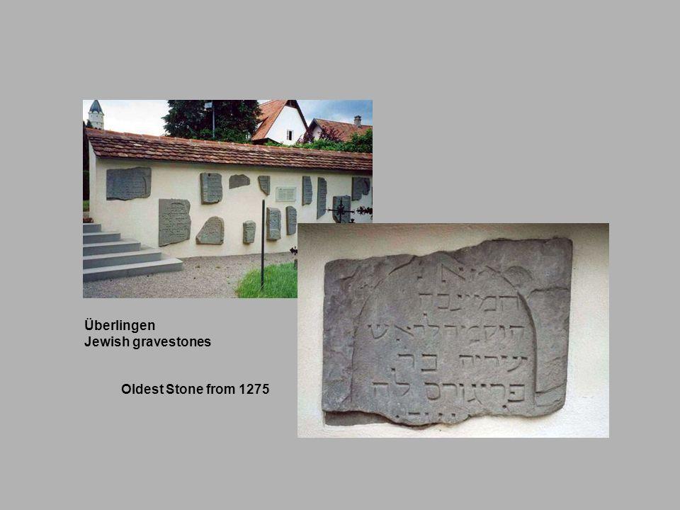 Überlingen Jewish gravestones Oldest Stone from 1275