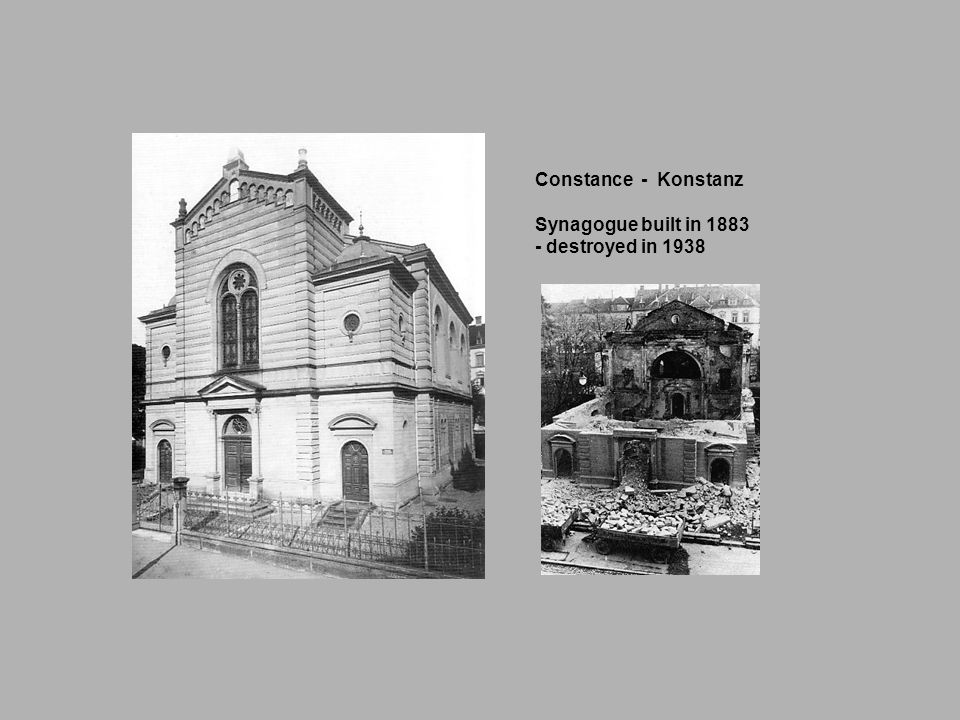 Constance - Konstanz Synagogue built in destroyed in 1938