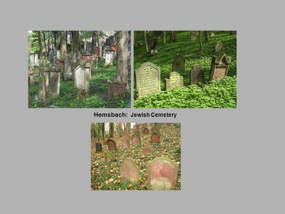 Hemsbach: Jewish Cemetery
