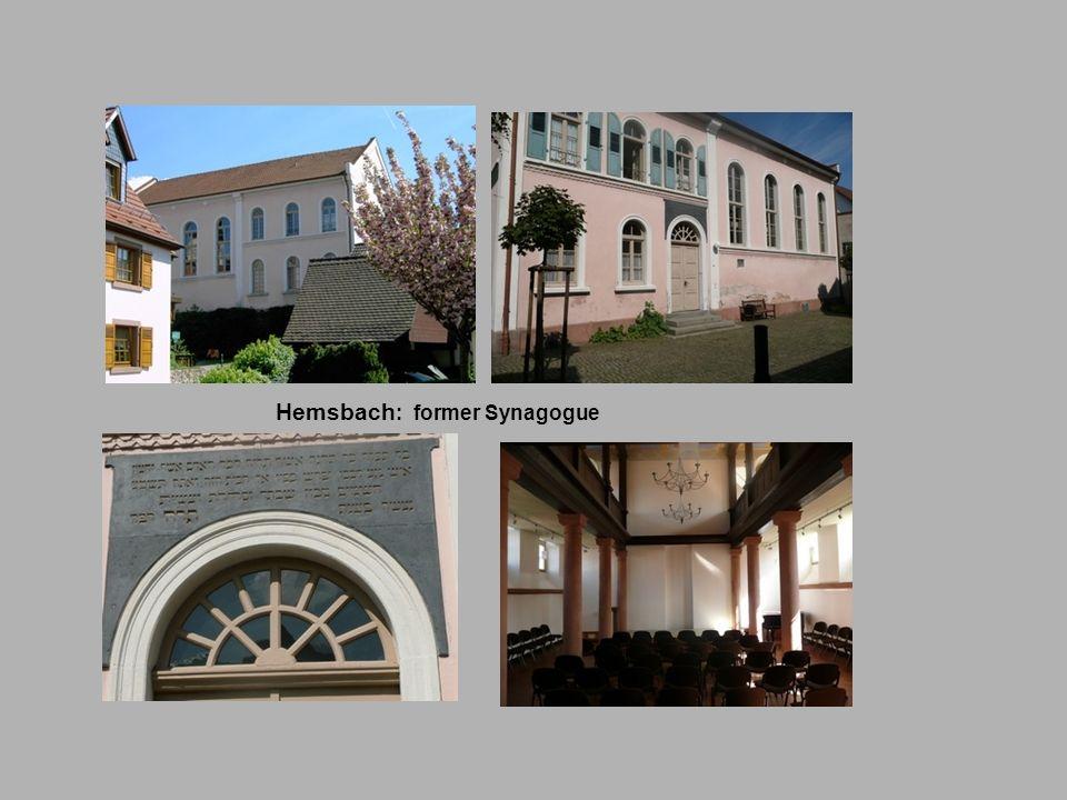Hemsbach: former Synagogue