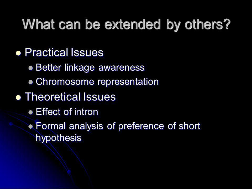 What can be extended by others