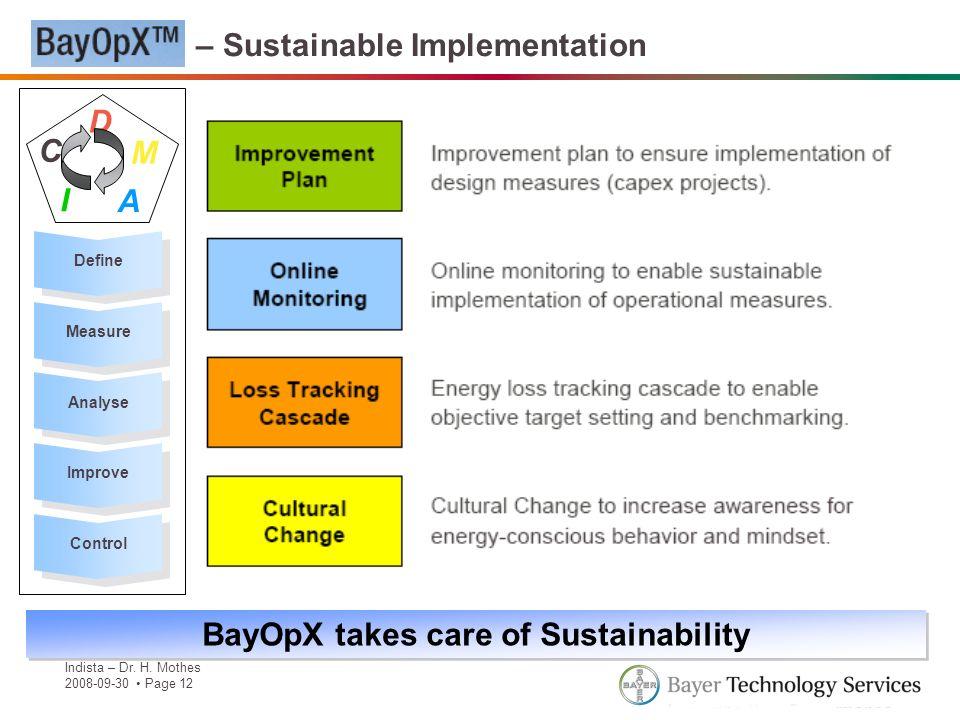 BayOpX – Sustainable Implementation