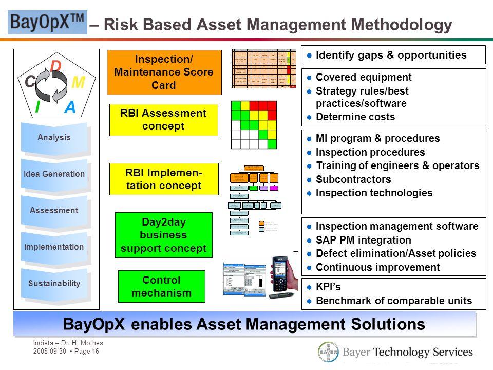 BayOpX – Risk Based Asset Management Methodology