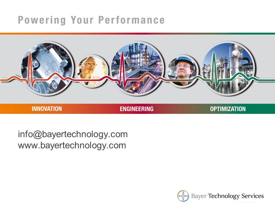 info@bayertechnology.com www.bayertechnology.com