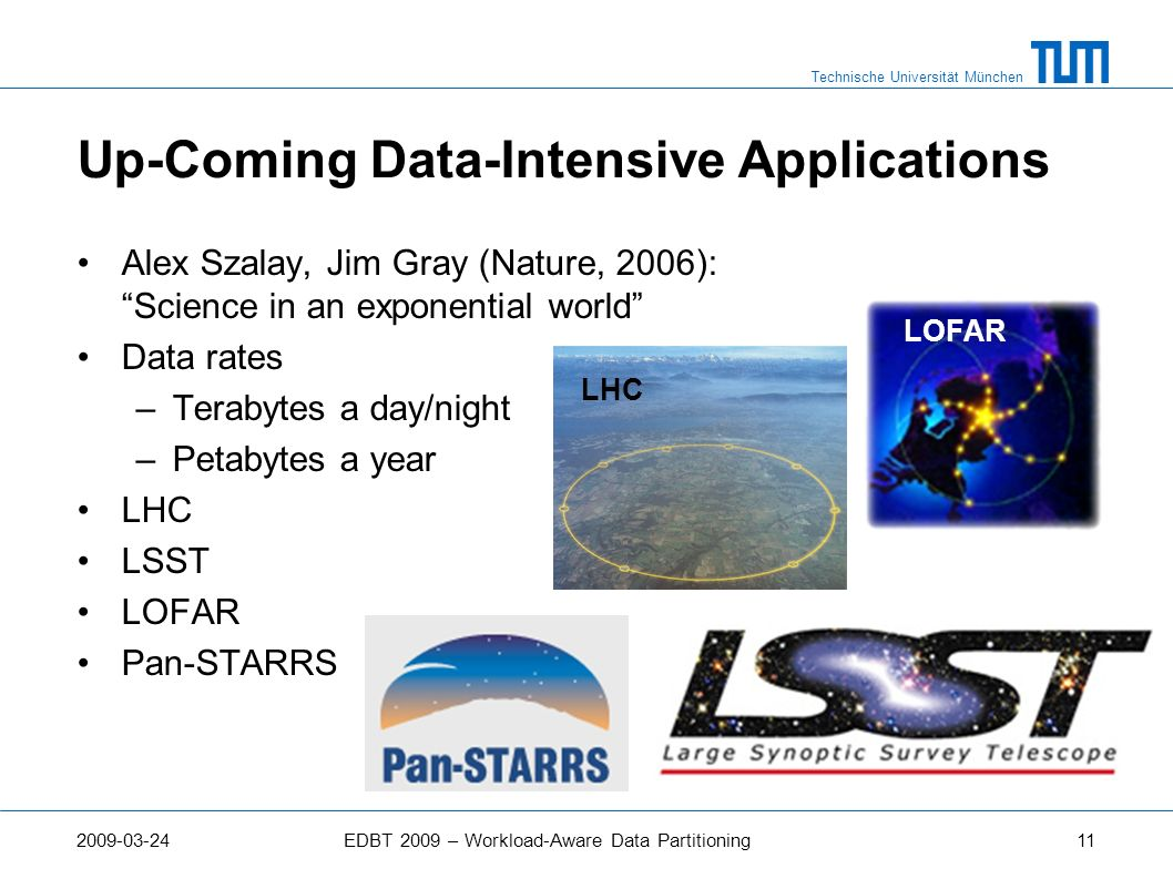 Up-Coming Data-Intensive Applications