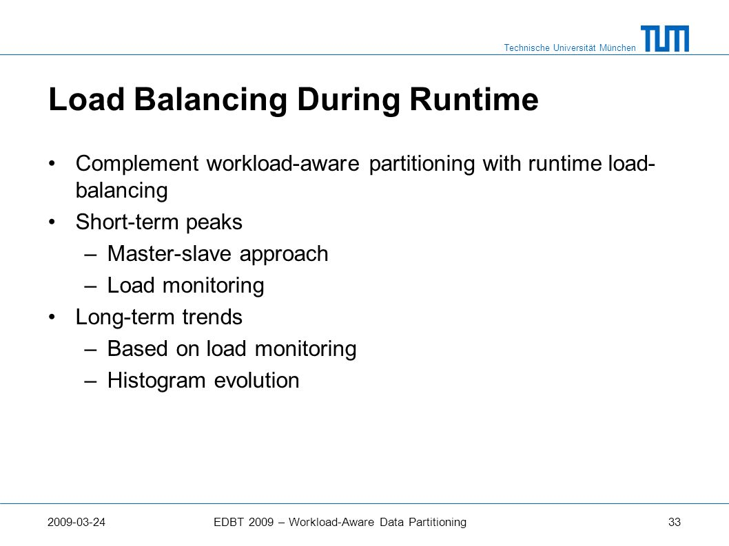 Load Balancing During Runtime