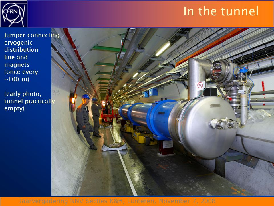 In the tunnel Jumper connecting cryogenic distribution line and