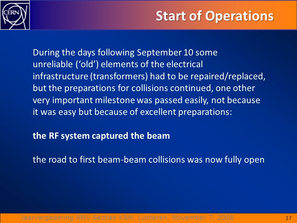 Start of Operations During the days following September 10 some