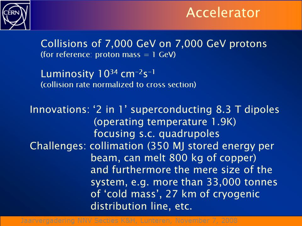Accelerator Collisions of 7,000 GeV on 7,000 GeV protons