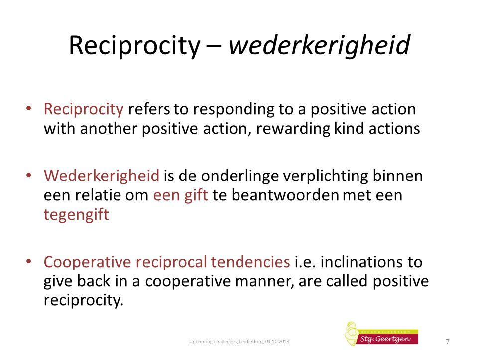 Reciprocity – wederkerigheid