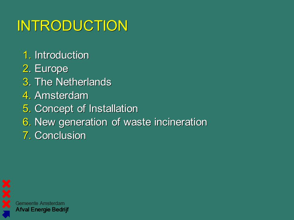 INTRODUCTION 1. Introduction 2. Europe 3. The Netherlands 4. Amsterdam