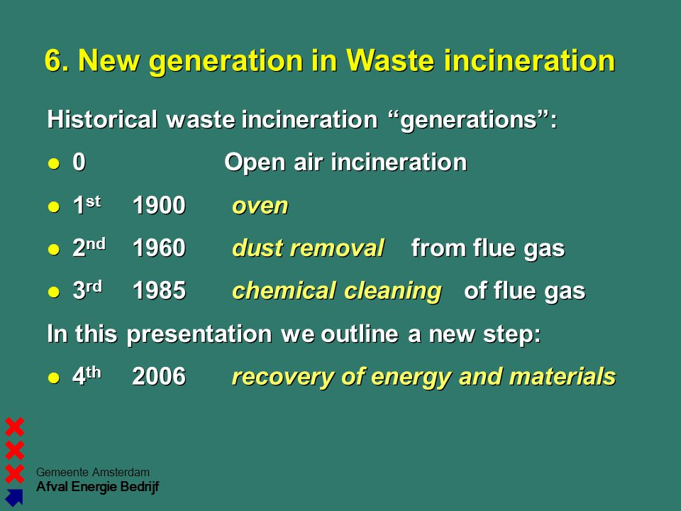 6. New generation in Waste incineration