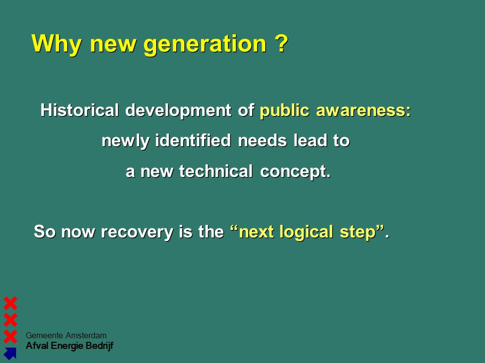 Why new generation Historical development of public awareness: