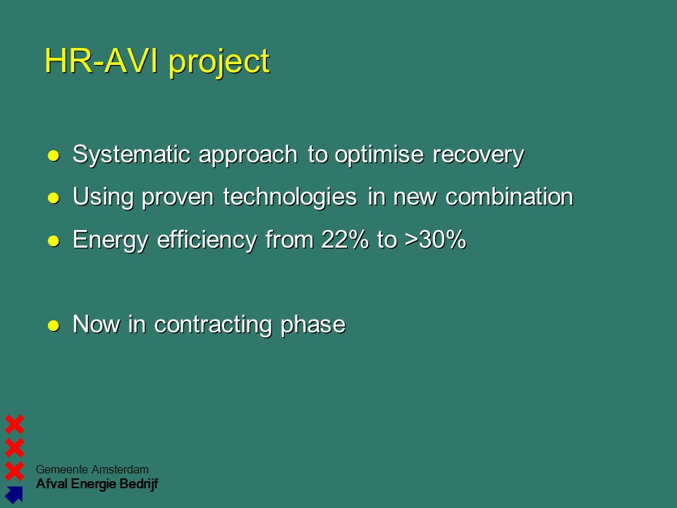 HR-AVI project Systematic approach to optimise recovery
