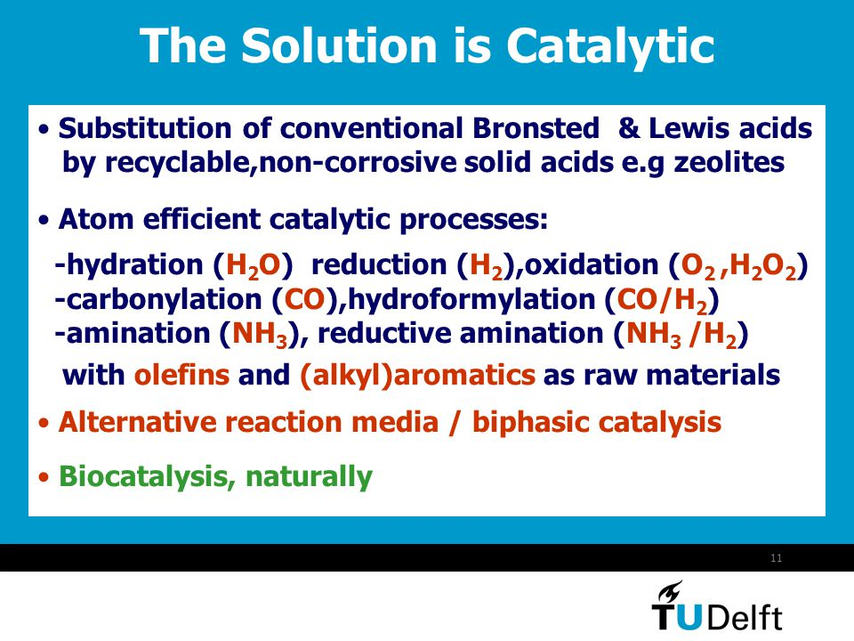 The Solution is Catalytic