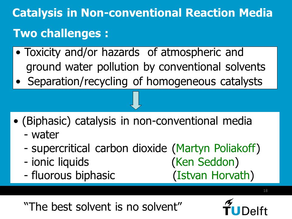 Catalysis in Non-conventional Reaction Media