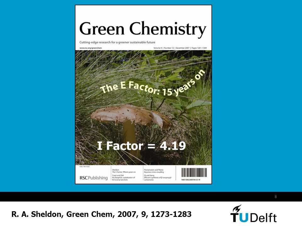 I Factor = 4.19 R. A. Sheldon, Green Chem, 2007, 9, 1273-1283