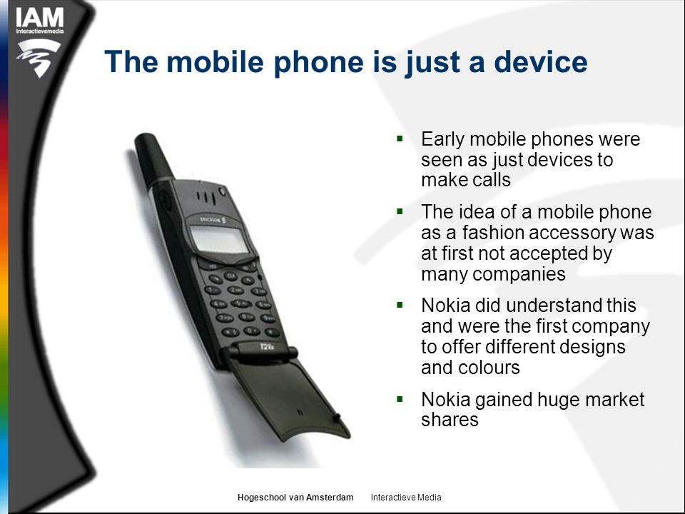 The mobile phone is just a device